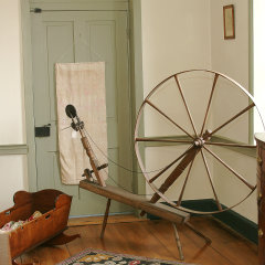 Walking Wheel in Urban Bedroom